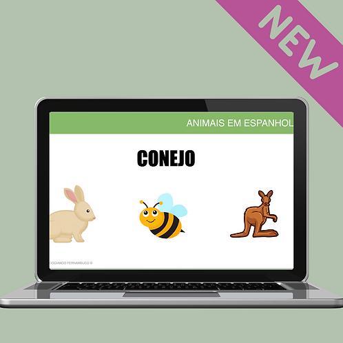 ANIMAIS EM ESPANHOL - INTERATIVO