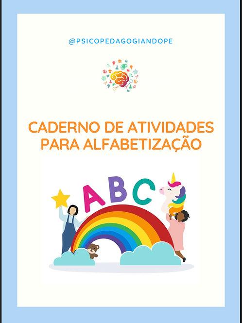 CADERNO DE ATIVIDADES ALFABETIZAÇÃO
