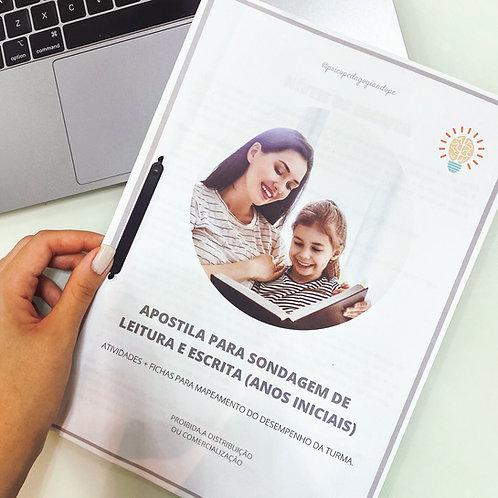 SONDAGEM DE LEITURA E ESCRITA (ANOS INICIAIS)