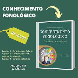 CONHECIMENTO FONOLÓGICO