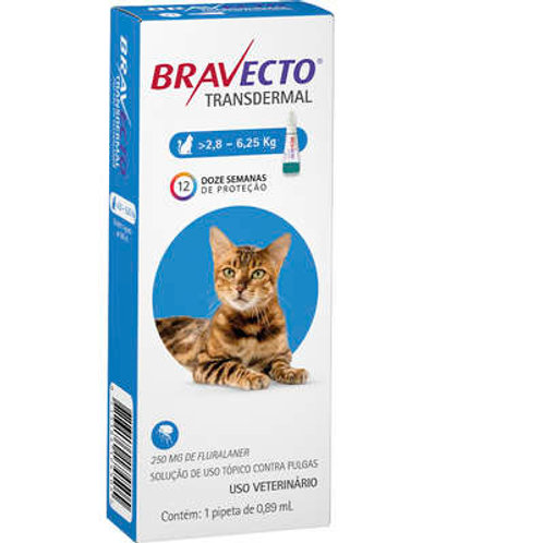 Bravecto Transdermal Gatos 2,8 - 6,25kg 250mg