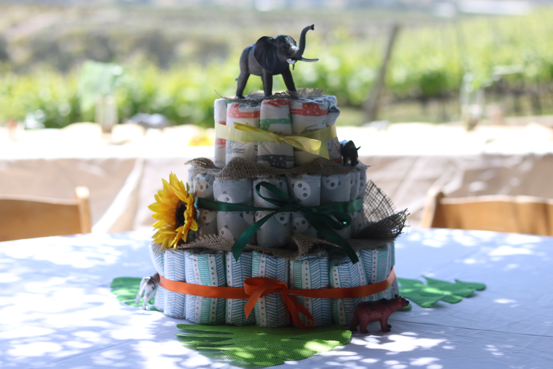 a perfectly wild diaper cake