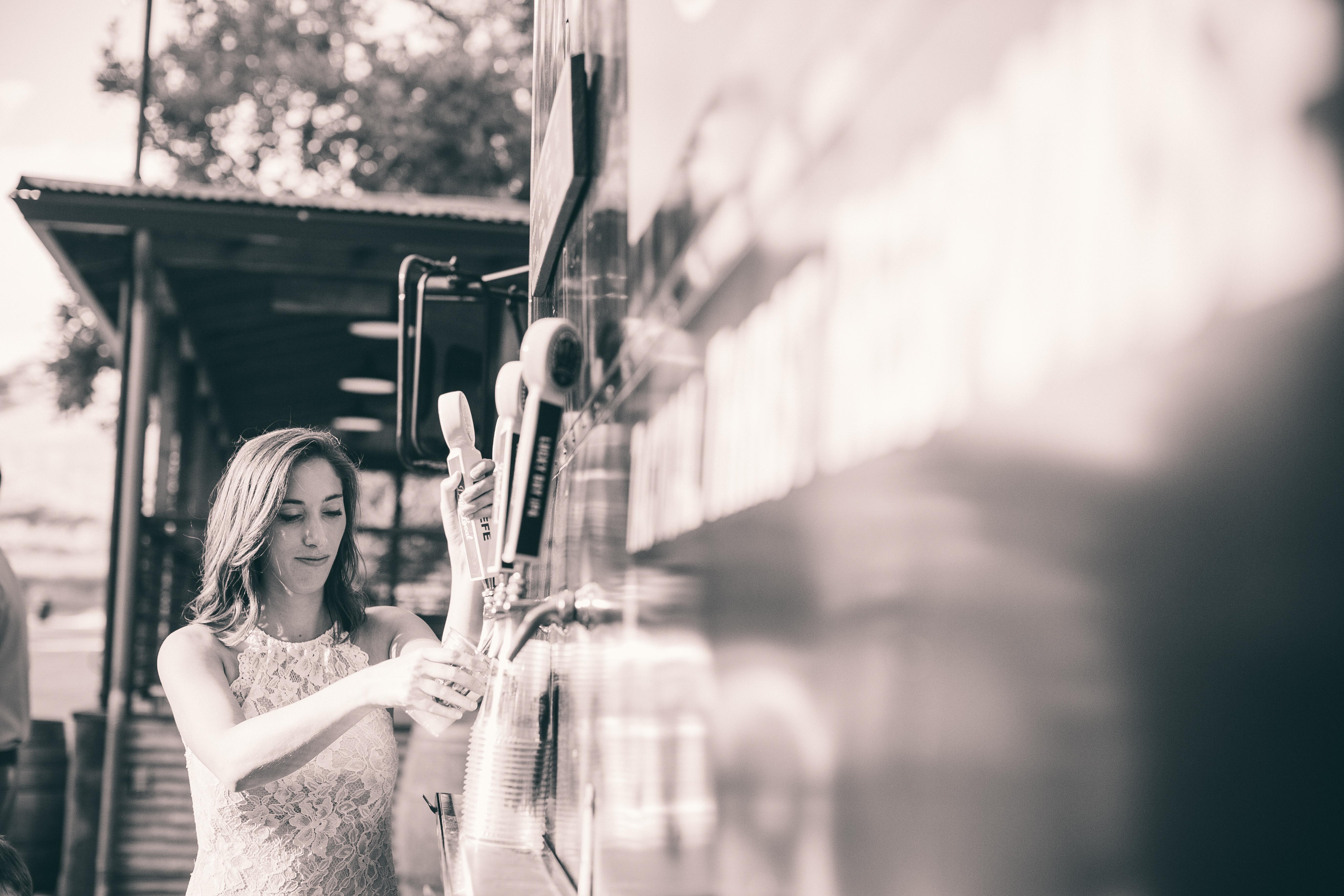 Bartender bride