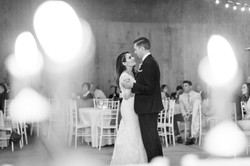 A candlelit first dance