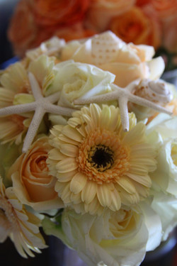 Seashell bouquet accents