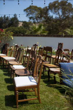Eclectic ceremony chairs
