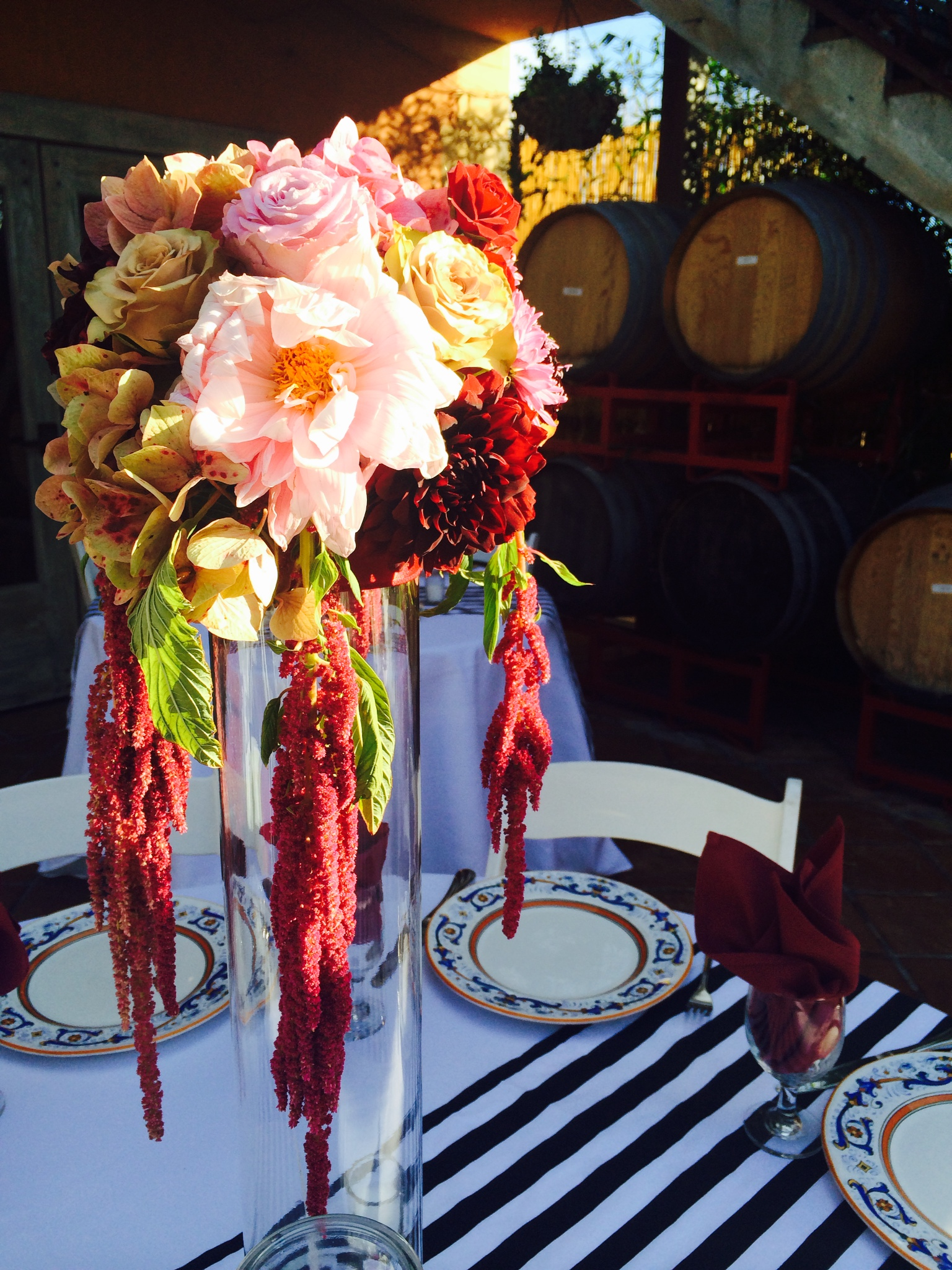 Tall floral arrangements