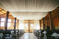 fabric lined ceiling