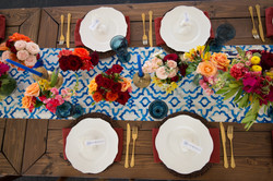 Spanish style table setting