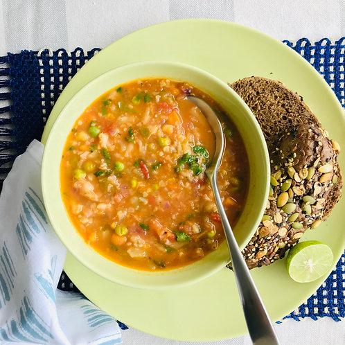Hearty Pav Bhaji Soup