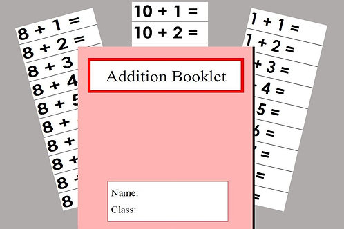Addition booklet