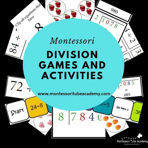 Montessori Division Games and Activities