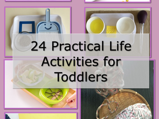 24 Practical Life Activities for Toddlers