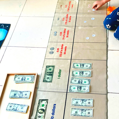 American money interactive mat