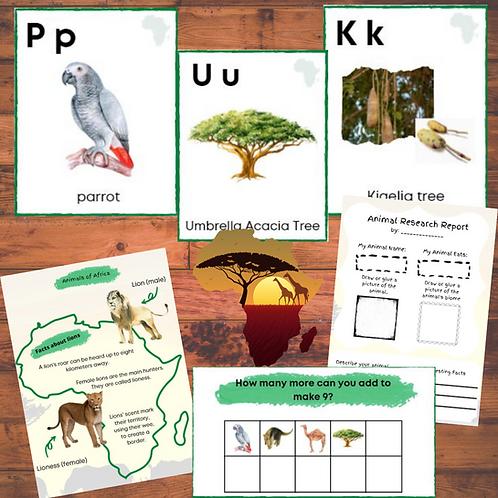 Africa Wildlife Unit Study