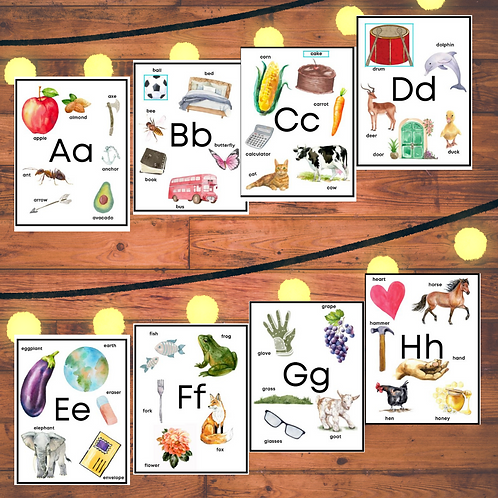 Preschool alphabets posters