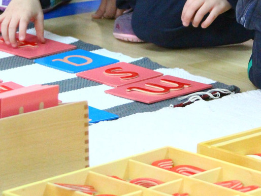 The Transition between Sandpaper and large movable alphabets in Montessori Early Language program