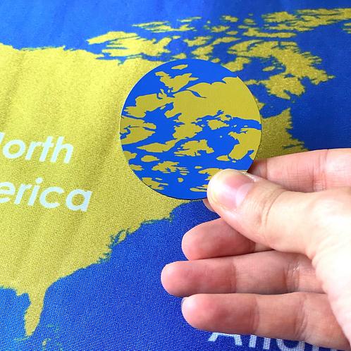 Montessori Inspired Continents Mat