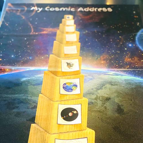Cosmic address mat + set of stickers