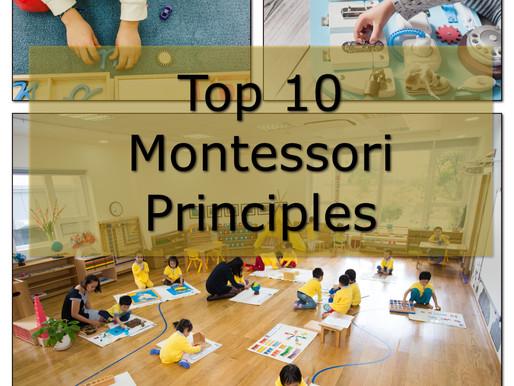Top 10 Montessori Principles