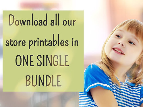 Get ALL store printables in ONE BUNDLE