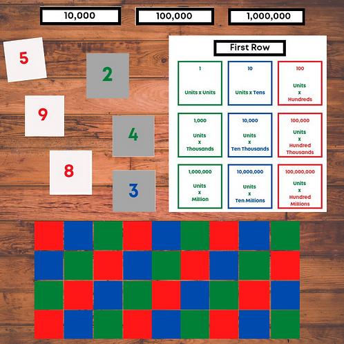 Montessori Checkerboard Template