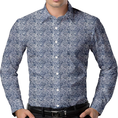 Five Shades of Blue Regular-Fit Shirt