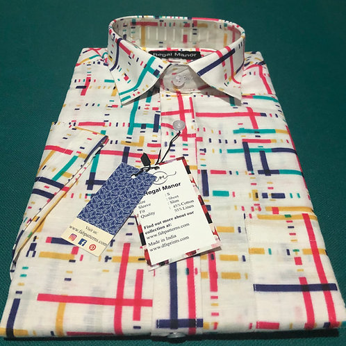 Color Matrix Regular-Fit Shirt