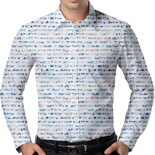 Triangle Haze Slim-Fit Shirt