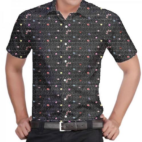 Dark Floral Slim-Fit Shirt