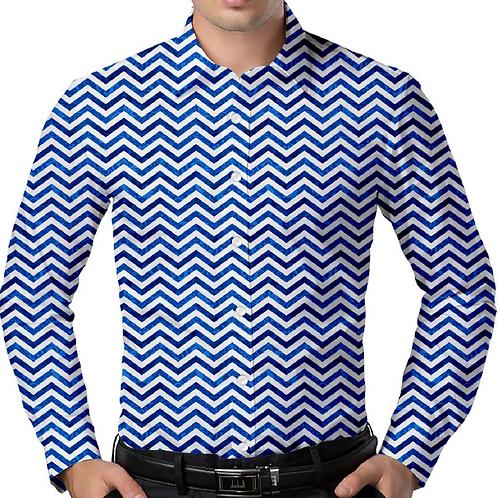 Zig Zag Slim-Fit Shirt