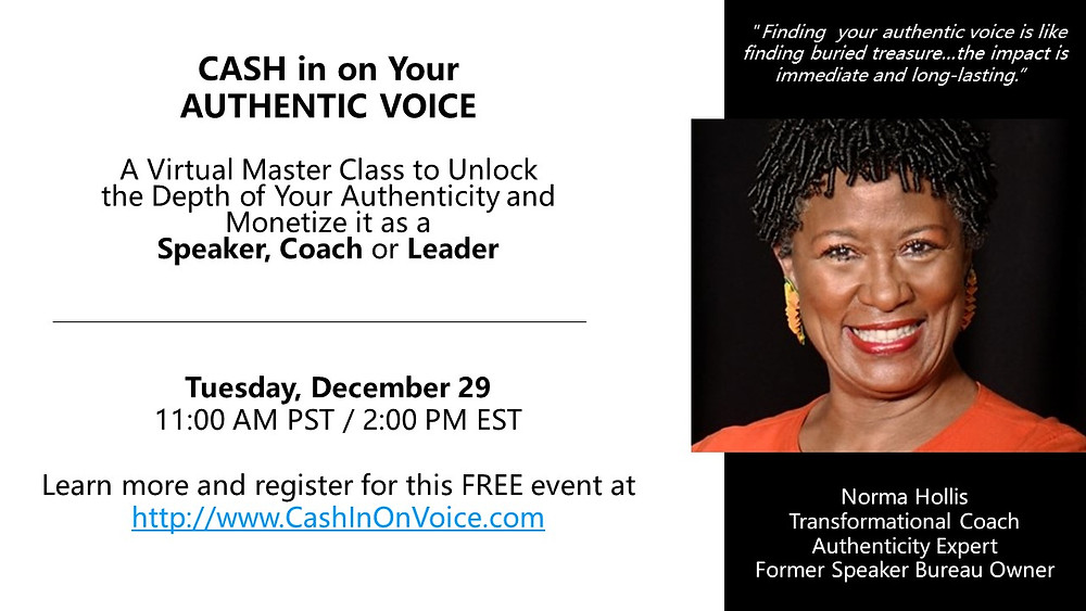 Norma Hollis, Authenticity Expert, presents a free class to help you unlock your own authenticity.