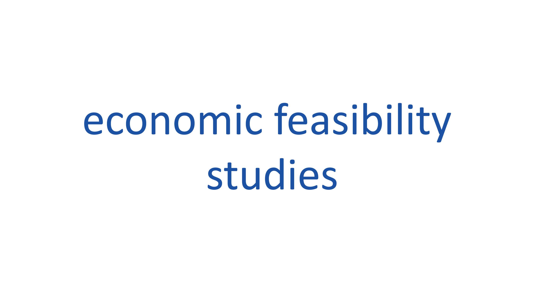 economic feasibility studies