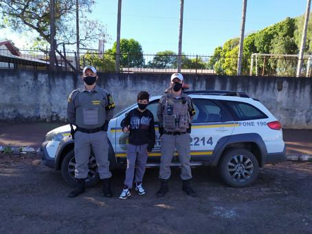 Policiais Militares salvam criança de 12 anos engasgada em Miraguaí