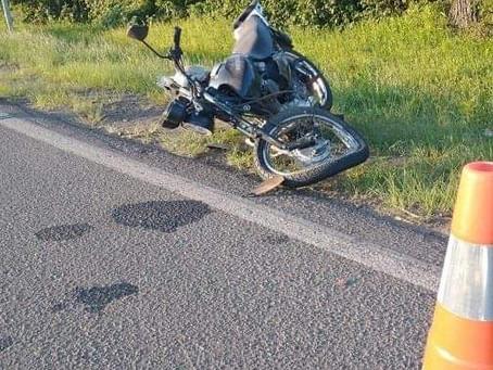 Motociclista fica gravemente ferido em acidente com caminhão emplacado em Crissiumal na BR-386
