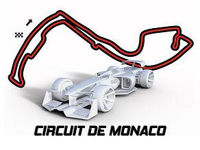 Race track wall art Monaco