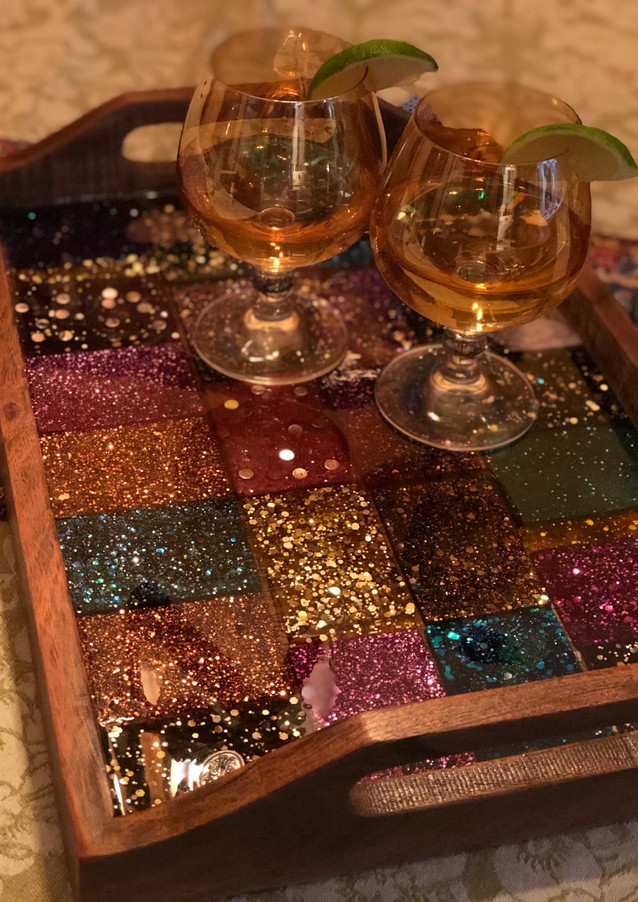 Handmade Resin Tiles. All trays are one of a kind.