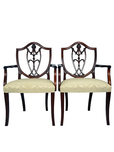 Pair of Polidor Shield Back Arm Chairs