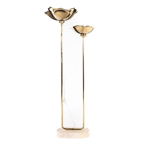 Tommaso Barbi Flower Petal Brass and Marble Floor Lamp