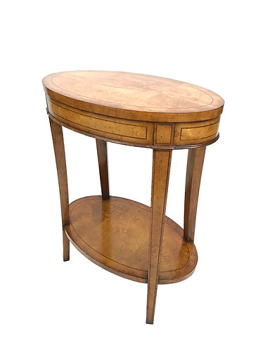 Jonathan Charles Oval Lamp/ End Table