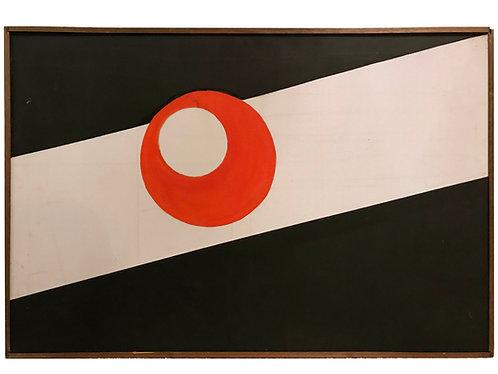 1968 Original Mid-Century Modern Painting by Ank Van Burkom