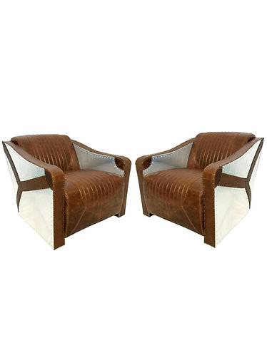 Lazzaro Leather Kryptonite Aviator Style Chair