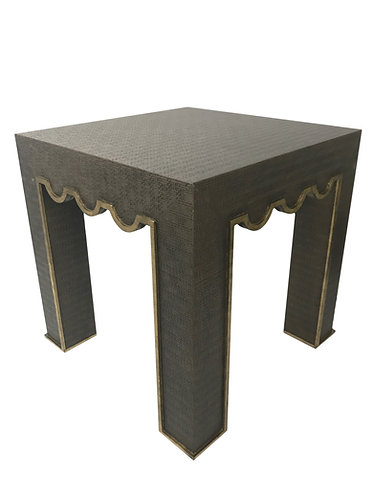 Chelsea House Raffia Wrapped Accent Table