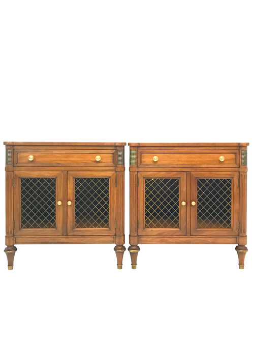 The Finest American Crafted French Regency Style Nightstands, From The  Belvedere Collection By Kindel Furniture Of Grand Rapids. Made From Cherry  Wood, ...