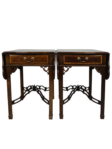 Sherrill Cth Occasional Pembroke Drop Leaf Tables-A Pair