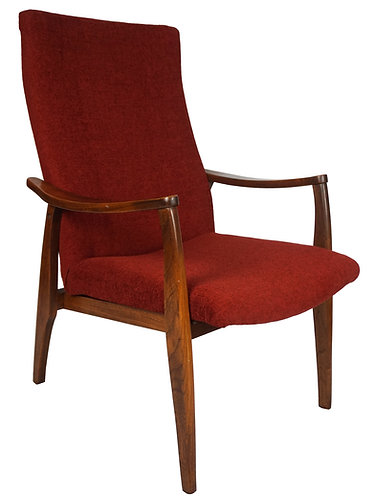 Vintage Pearsall Style High Back Arm Chair