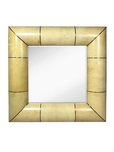Modern History Square Vellum Mirror