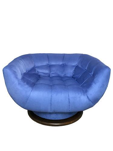 Monumental Swivel Tub Chair by Adrian Pearsall