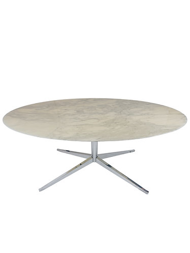 Florence Knoll Marble and Chrome Dining Table/Desk