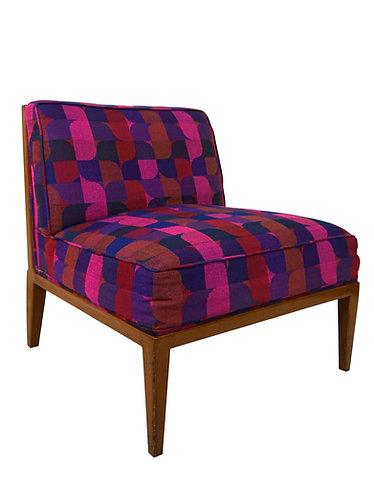 1960s Widdicomb Cane Back Slipper Chair With Jack Larsen Upholstery